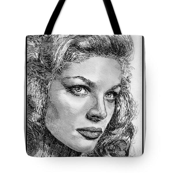 Lauren Bacall Tote Bag by J McCombie