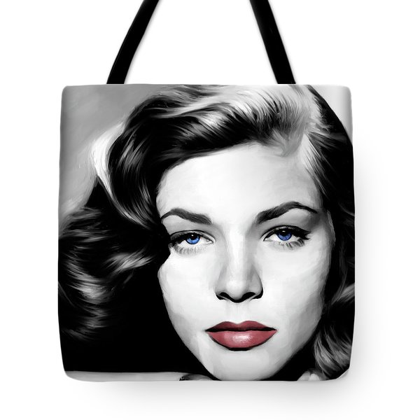 Lauren Bacall Large Size Portrait Tote Bag