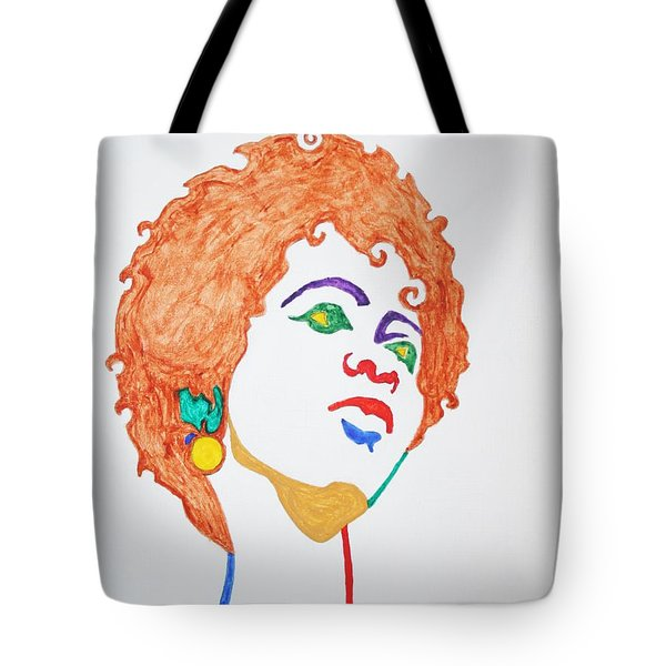 Tote Bag featuring the painting Lauryn Hill  by Stormm Bradshaw