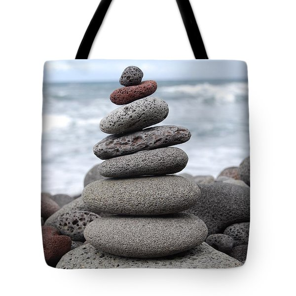 Tote Bag featuring the photograph Lava Cairn by Jani Freimann