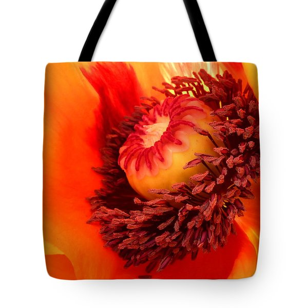 Lava Flow Tote Bag by Connie Handscomb