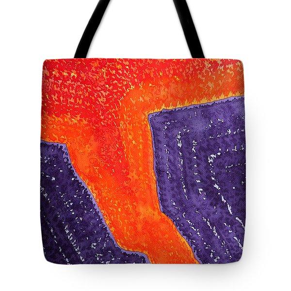 Lava Flow Original Painting Tote Bag