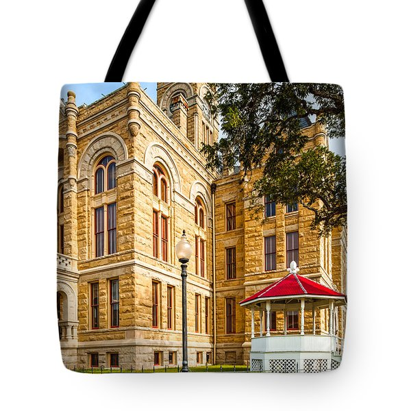 Lavaca County Courthouse - Hallettsville Texas Tote Bag