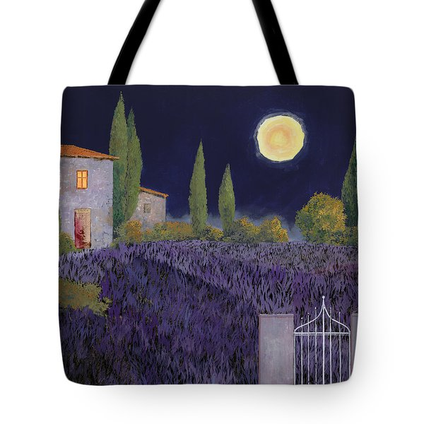 Tote Bag featuring the painting Lavanda Di Notte by Guido Borelli