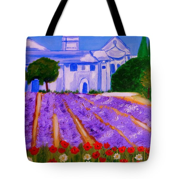 Lavande A St Paul De Mausole  St Remy De Provence Tote Bag