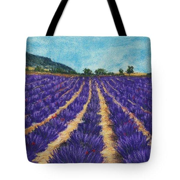 Lavender Afternoon Tote Bag by Anastasiya Malakhova