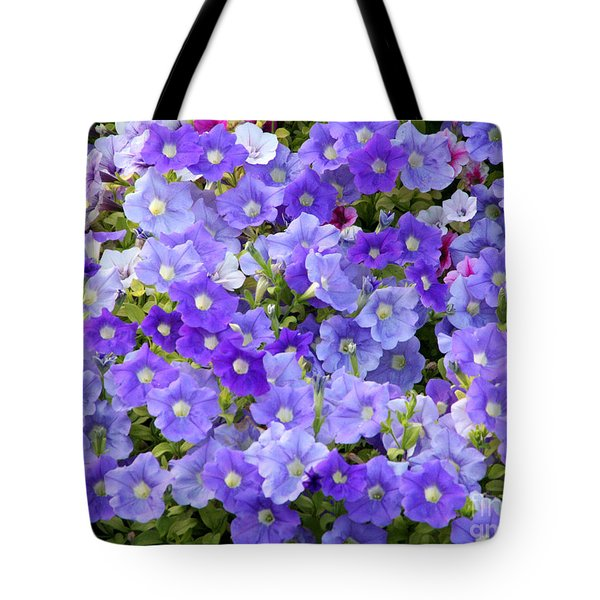Tote Bag featuring the photograph Lavender And Purple by Mariarosa Rockefeller