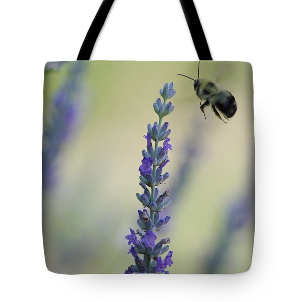 Lavender And The Bee Tote Bag