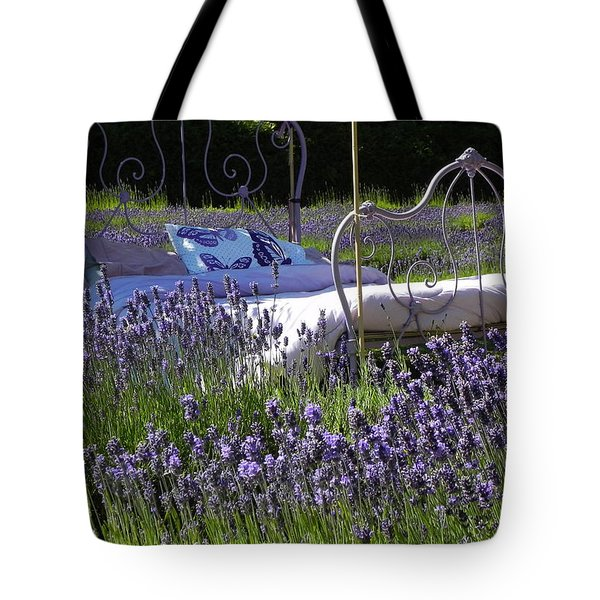 Tote Bag featuring the photograph Lavender Dreams by Cheryl Hoyle