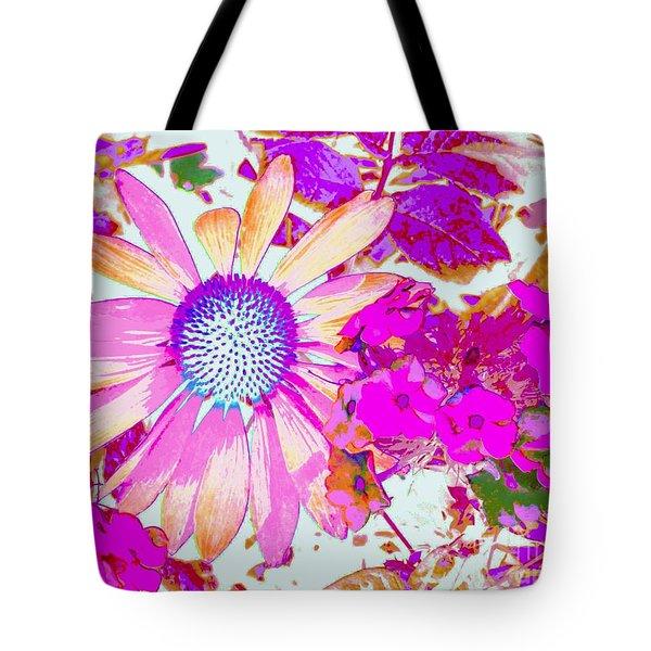 Lavender Echinacea Tote Bag by Annie Zeno