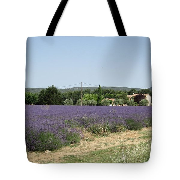 Lavender Farm Tote Bag by Pema Hou