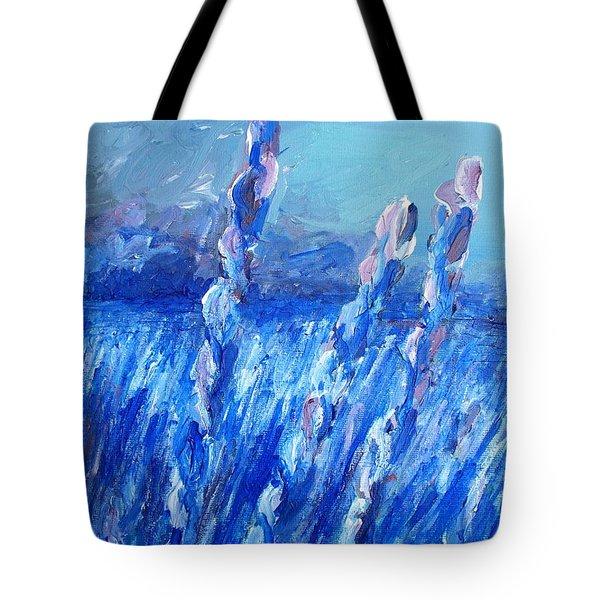 Lavender Field Landscape Tote Bag by Eric  Schiabor
