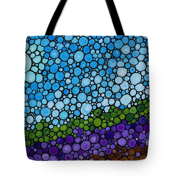 Lavender Fields - France French Landscape Art Tote Bag by Sharon Cummings