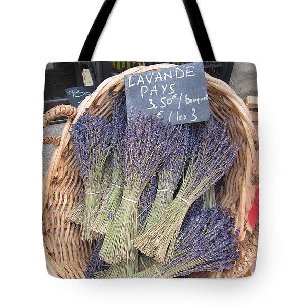 Lavender For Sale Tote Bag by Pema Hou