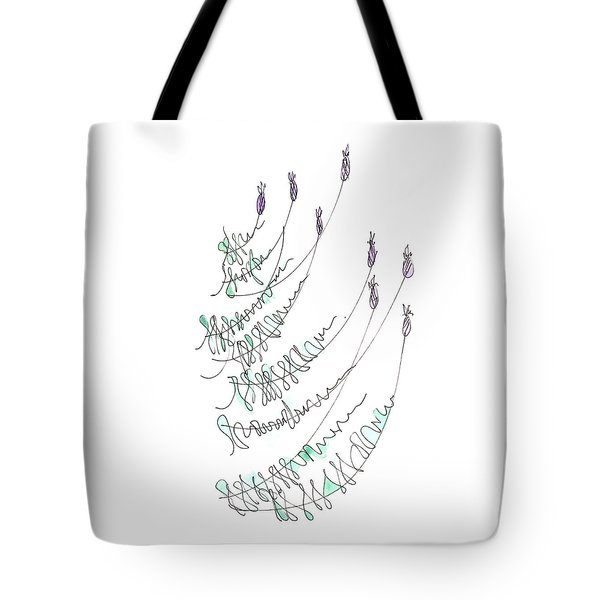 Lavender Grows From Stone Wall  Tote Bag