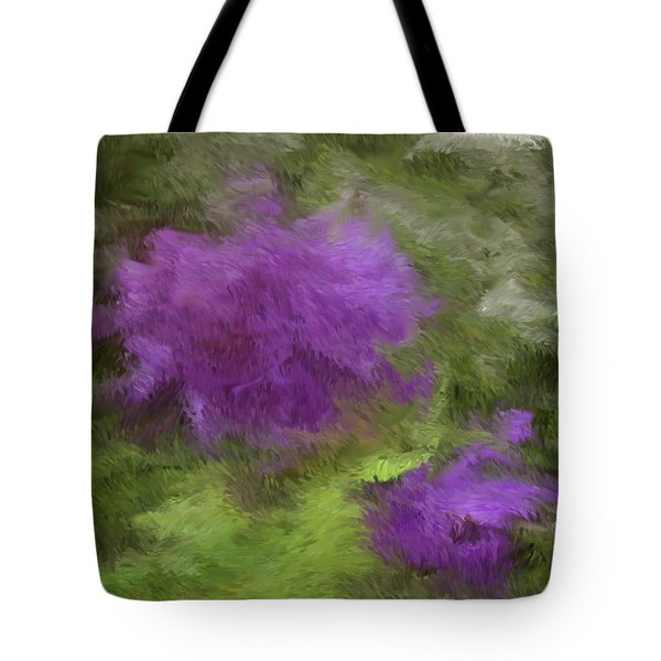 Tote Bag featuring the digital art Monet Meadow by The Art of Alice Terrill