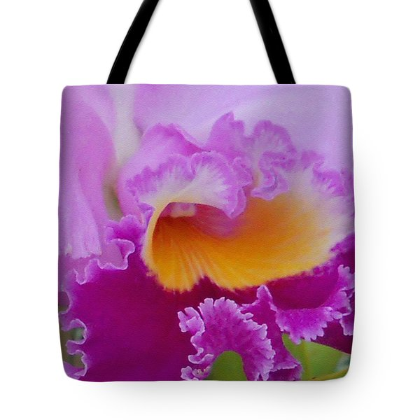 Lavender Orchid Tote Bag by Aimee L Maher Photography and Art Visit ALMGallerydotcom