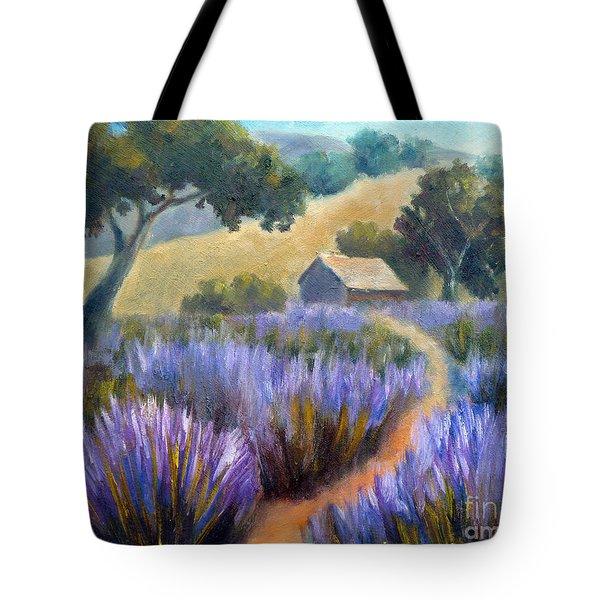Lavender Path Tote Bag