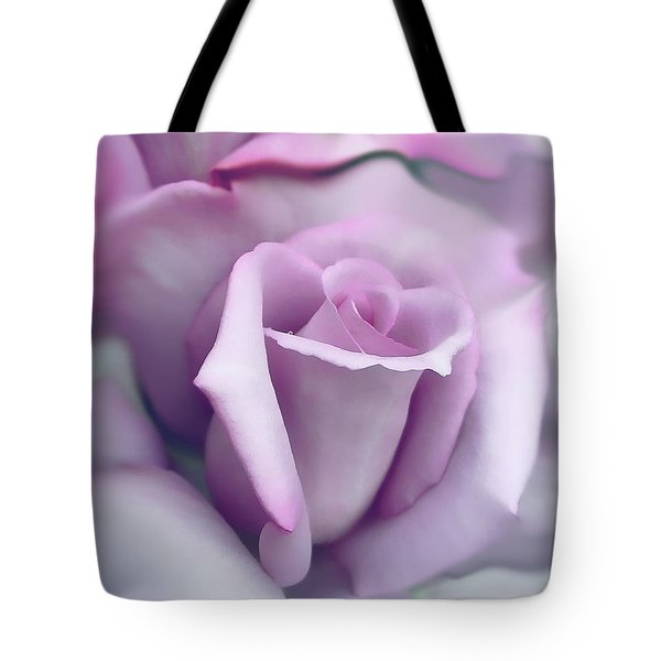 Lavender Rose Flower Portrait Tote Bag