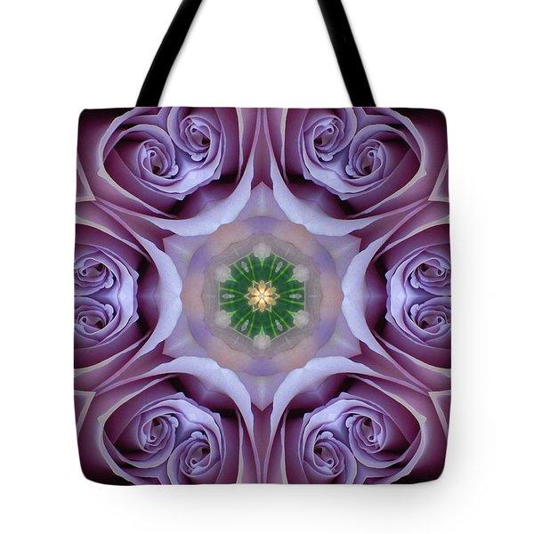 Lavender Rose Mandala Tote Bag