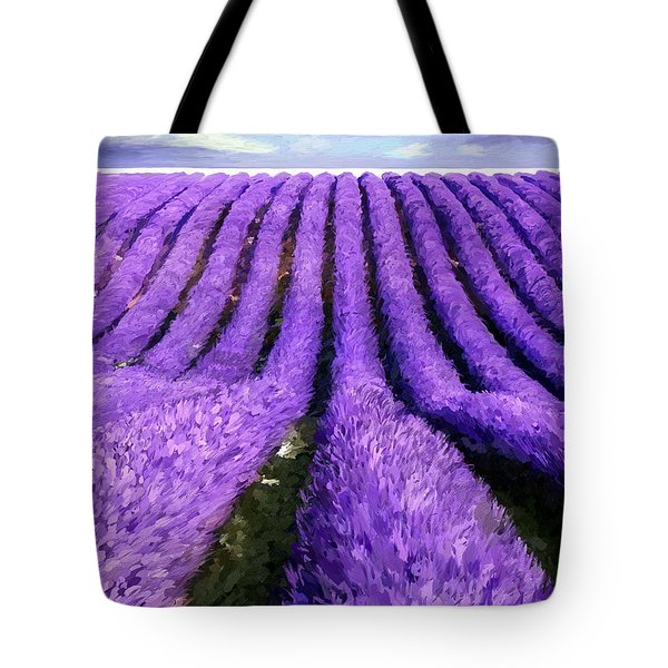 Lavender Straight Tote Bag