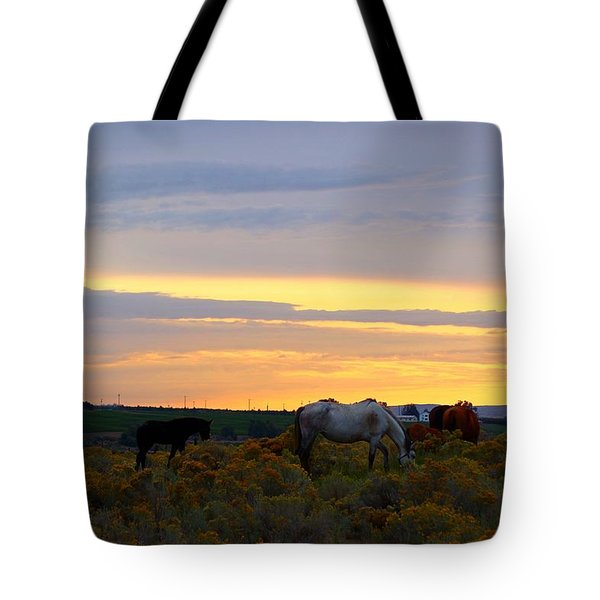 Tote Bag featuring the photograph Lavender Sunrise by Lynn Hopwood