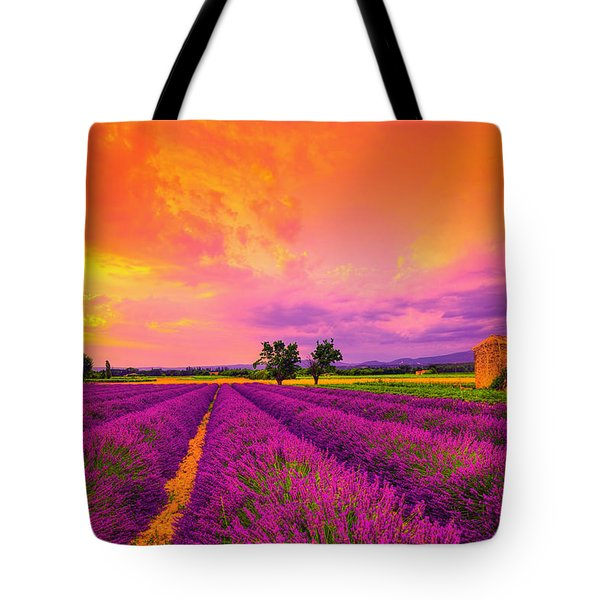Lavender Sunset Tote Bag by Midori Chan