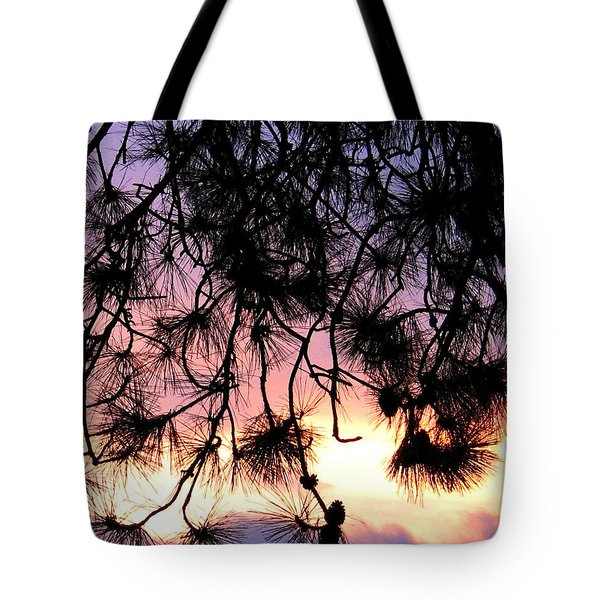 Lavender Sunset Painting Tote Bag by Will Borden