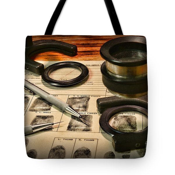 Law Enforcement - Fingerprint Analysis Tote Bag by Paul Ward