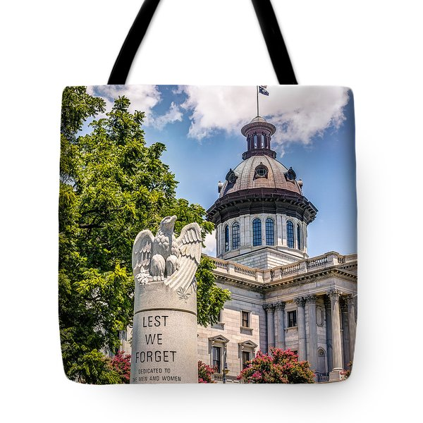 Tote Bag featuring the photograph Law Enforcement Memorial by Rob Sellers