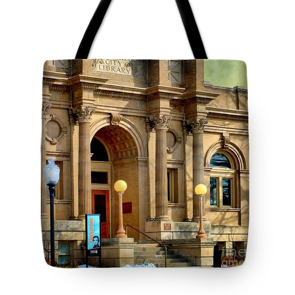 Lawrence City Library Tote Bag by Liane Wright