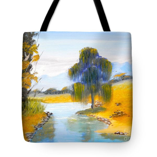 Tote Bag featuring the painting Lawson River by Pamela  Meredith