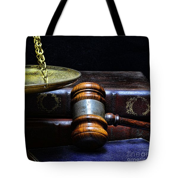 Lawyer - Books Of Justice Tote Bag by Paul Ward