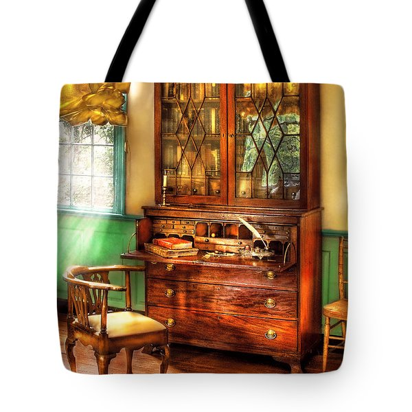 Lawyer - The Lawyers Study Tote Bag by Mike Savad