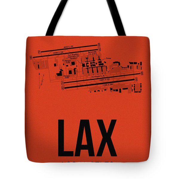 Lax Los Angeles Airport Poster 4 Tote Bag