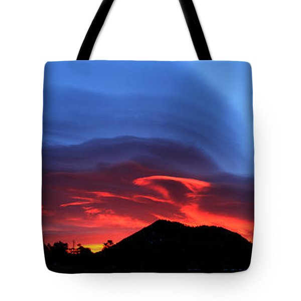 Layers In The Sky - Panorama Tote Bag