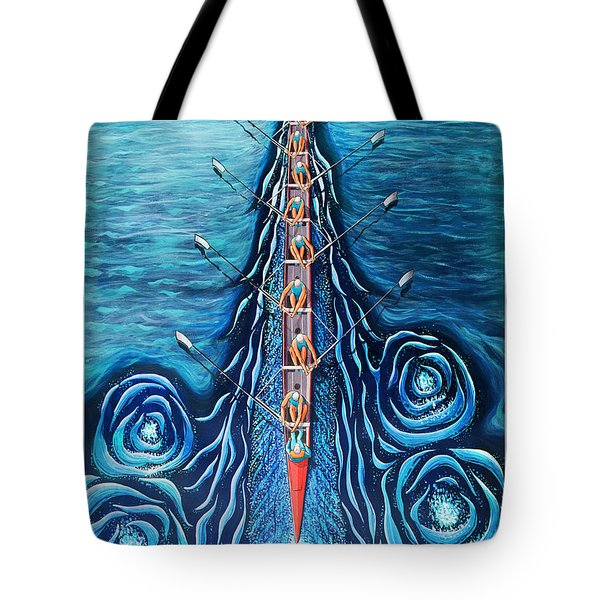 Blue Eight By O4rsom. Rowing Sport Of Champions Tote Bag