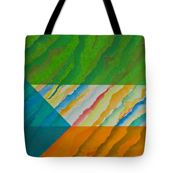 Tote Bag featuring the mixed media Layover by Michele Myers