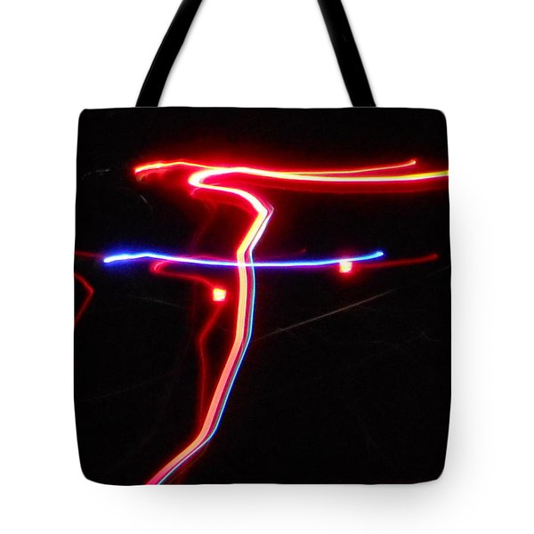 Lazer Fusion No.4 Tote Bag by James Welch