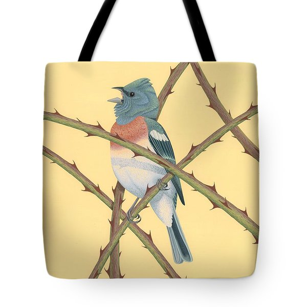 Lazuli Bunting Tote Bag by Nathan Marcy