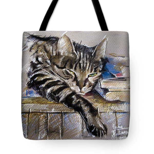 Lazy Cat Portrait - Drawing Tote Bag