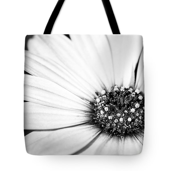 Lazy Daisy In Black And White Tote Bag by Sabrina L Ryan