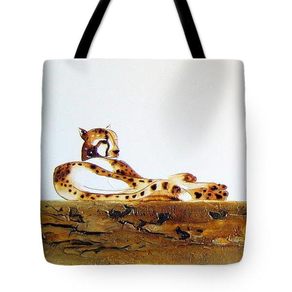 Lazy Dayz Cheetah - Original Artwork Tote Bag