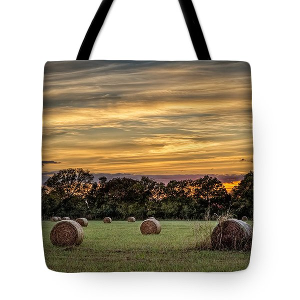 Lazy Hay Bales Tote Bag