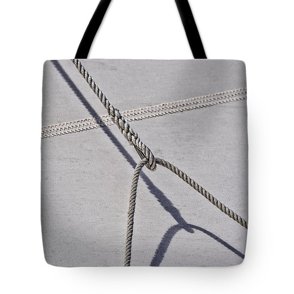 Tote Bag featuring the photograph Lazy Jack-shadow And Sail by Marty Saccone