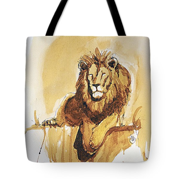 Lazy Leo Tote Bag