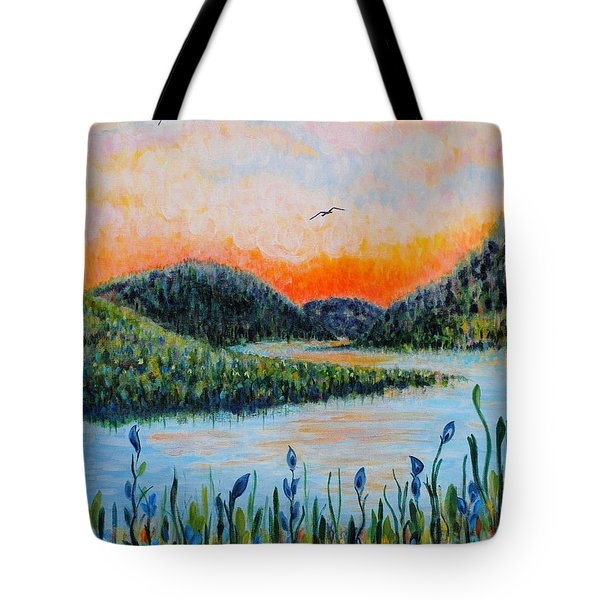 Lazy River Tote Bag by Holly Carmichael