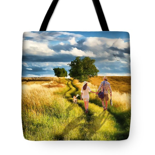 Lazy Summer Afternoon Tote Bag by Tom Schmidt