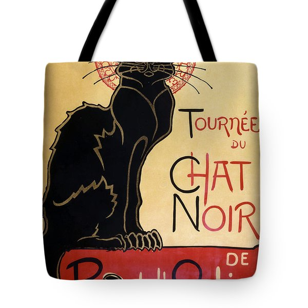 Le Chat Noir Tote Bag by Georgia Fowler