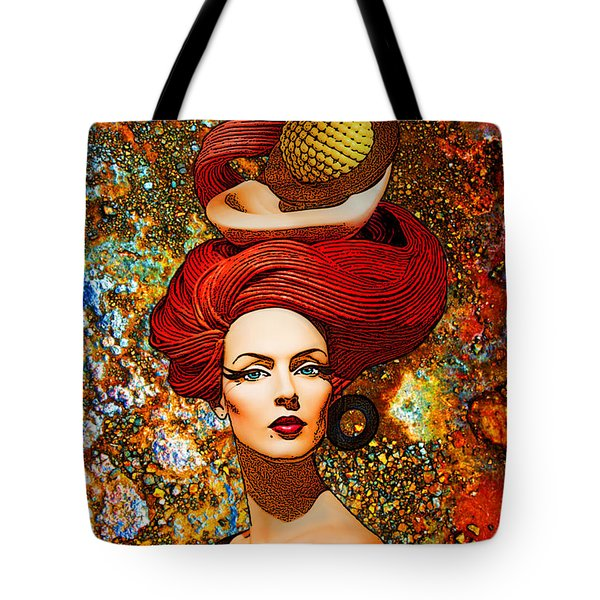 Le Cheveux Rouges Tote Bag by Chuck Staley